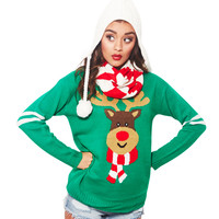 Rudolph Scarf Sweater Set | Wet Seal