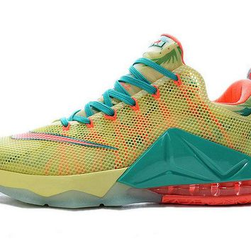 Official LeBron 12 Low LeBronold Palmer South Beach Bright Mango 776652 383 Brand sneaker