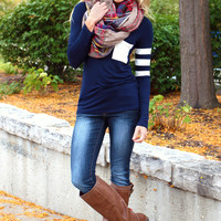 Tailgating Top - Navy