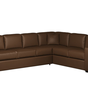 Sutton Place II Leather True 3 Cushion Sectional Queen Sleeper Sofa