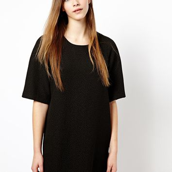 Monki Quilted Cocoon Dress