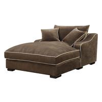 Emerald Caresse Mocha Down Filled Chaise Lounge | Overstock.com Shopping - The Best Deals on Living Room Chairs