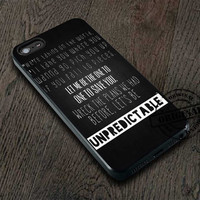 5SoS Lyrics 1 Cover iPhone 5/5S/5C/4/4S, Samsung Galaxy S3/S4, iPod Touch 4/5, htc One X/x+/S Case