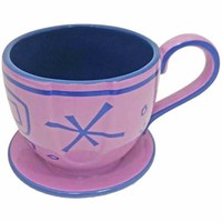 disney parks alice in wonderland mad tea party purple tea cup saucer mug new