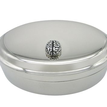 Anatomy Brain Pendant Oval Trinket Jewelry Box