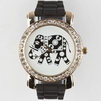 Ethnic Elephant Watch Black One Size For Women 25190610001
