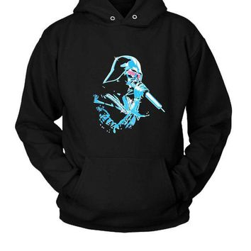 ESBP7V Funny Star Wars Darth Vader Autotune Hoodie Two Sided