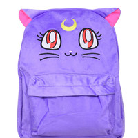 Cute Sailor Moon Luna Fluffy Plush Backpack