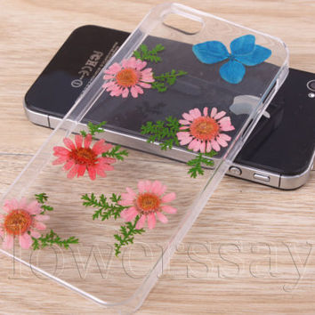 iPhone 6 case iPhone 6 plus Pressed Flower, iPhone 5/5s case, iPhone 4/4s case,  5c case Galaxy S4 S5 Note 2 note 3 Real Flower case NO:F31