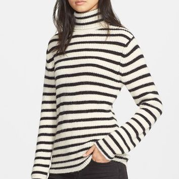 Women's IRO 'Seely' Stripe Turtleneck Sweater,
