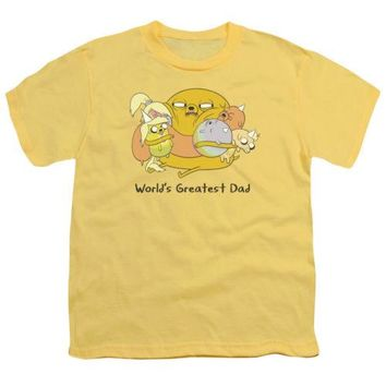 Adventure Time Worlds Greatest Dad Youth T Shirt