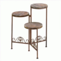 Rustic Triple Planter Stand (pack of 1 EA)