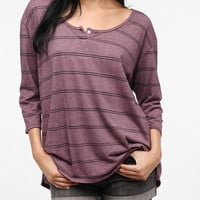 Truly Madly Deeply One-Button Henley Tee
