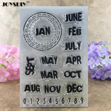 Day Calendar Monthly Calendar Scrapbook DIY photo cards account rubber stamp clear stamp transparent stamp  16*11CM JOYSDIY