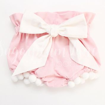 Pink Pom Bow Bloomers