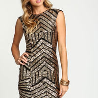 Sequin Baroque Scoopback Dress