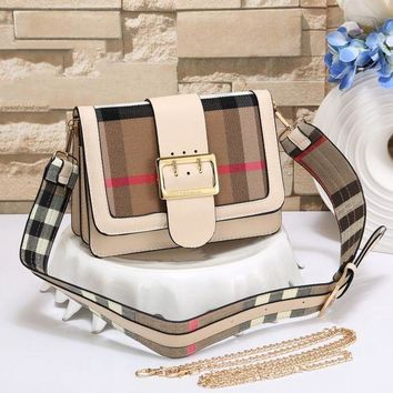 Burberry New Women Fashion Leather Chain Satchel Shoulder Bag Handbag Crossbody