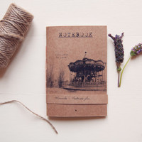 NOTEBOOK Tibi Dabo, Handmade Eco friendly pocket journal, 100% Recycled Paper