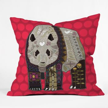 Sharon Turner Chocolate Panda Throw Pillow