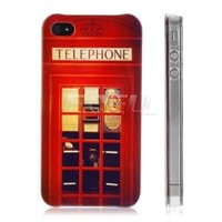 Ecell - HEADCASE RED TELEPHONE BOOTH UK BACK CASE COVER FOR APPLE iPHONE 4 4S