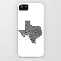 Typographic Texas iPhone Case by CAPow! | Society6