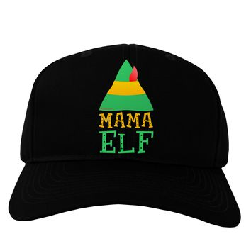 Matching Christmas Design - Elf Family - Mama Elf Adult Dark Baseball Cap Hat