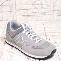 New Balance 574 Classic Grey Suede Trainers - Urban Outfitters