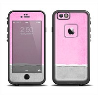 The Vintage Gray & Pink Texture Skin Set for the Apple iPhone 6 LifeProof Fre Case