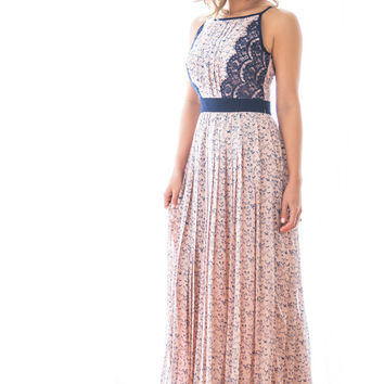 Christina Butterfly Print Maxi Dress