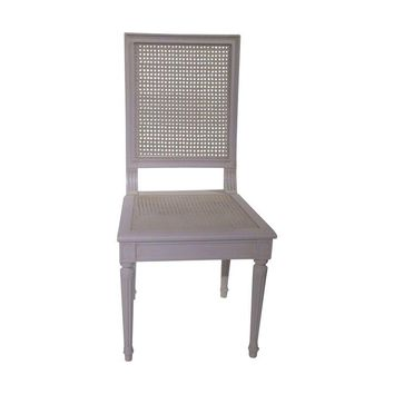 Pre-owned Louis XVI White Cane Side Chair