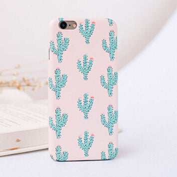 Cactus mobile phone case for iPhone 7 7 plus iphone 5 5s SE 6 6s 6plus 6s plus + Nice gift   box!