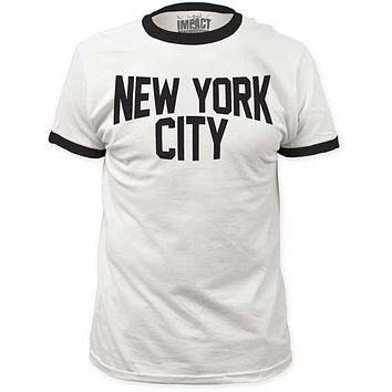 New York City Ringer Tee Shirt