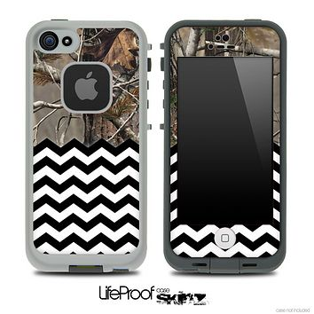 Mixed Real Camouflage and Chevron Pattern Skin for the iPhone 5 or 4/4s LifeProof Case