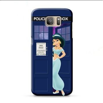 Disney Princess Jasmine Tardis Police Box Samsung Galaxy J7 2015 | J7 2016 | J7 2017 case