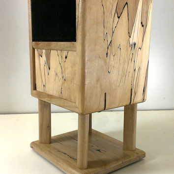 """Reclaimed Wood Spalted Maple Wireless Bluetooth Speaker """"Huey"""" 30 Watts, NFC Tap-to-Pair capabilty, iPod, iPhone, Android. Free shipping"""