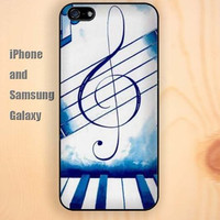 Piano musical notation iphone 6 6 plus iPhone 5 5S 5C case Samsung S3, S4,S5 case, Ipod touch Silicone Rubber Case, Phone cover