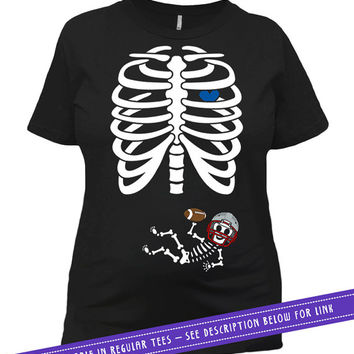 Maternity Halloween Shirt Pregnancy Announcement T Shirt Football Baby Clothes Maternity Outfits Pregnancy Wear Mom To Be Ladies Tee MAT-793