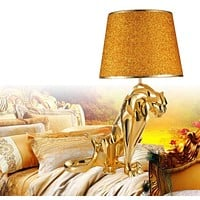 Creative  Luxury Plating Jaguar Table  Lamp