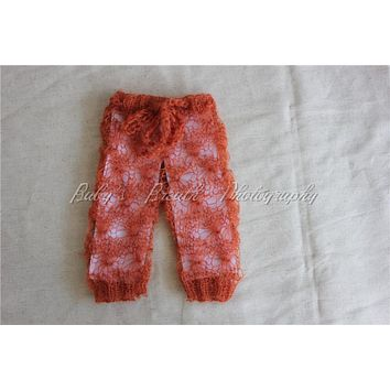 Newborn Prop Knitting Mohair Baby Pants Mohair Photography Props