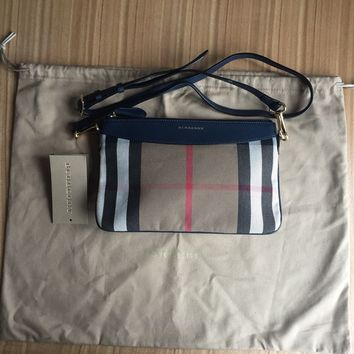 Women's Burberry Leather And House Check Crossbody Bag