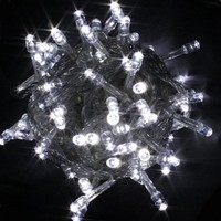 Urparcel 100 LED Fairy Light String Christmas Holiday Lights for Room Garden Home Decoration (White)