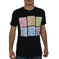 My Little Pony Equestrian Girls Rainbow Boxes Men's Black T-shirt