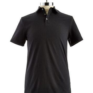 Black Brown 1826 Slim Fit Polo Shirt