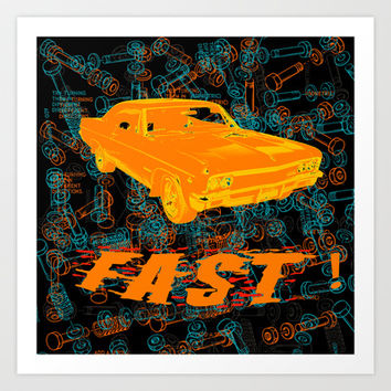 Fast Art Print by Superlust