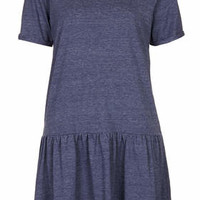 Drop Waist Jersey Tunic Dress - Denim