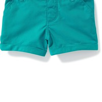 Cuffed Twill Pull-On Shorts for Toddler Girls   Old Navy