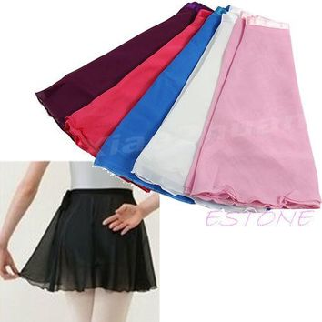 1 PC New Adult Girl Women Chiffon Ballet Tutu Skirt Skate Wrap Scarf 5 colors