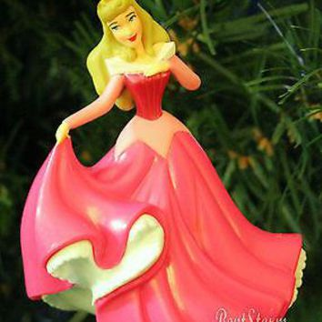 Licensed cool 2013 Disney Princess AURORA Sleeping Beauty PINK DRESS Christmas Ornament PVC