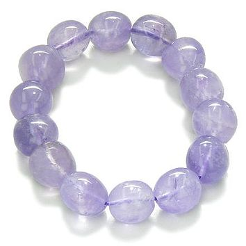 Amulet Healing Amethyst Tumbled Crystals Natural Powers Gemstone Bracelet