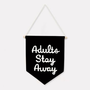 Woouf - Adults Stay Away - Flag